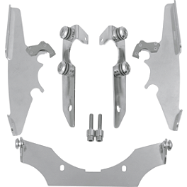 Memphis Shades Trigger-Lock Mounting Kit For Batwing Fairing - Polished - 2007 Yamaha V Star 1300 - XVS13 Memphis Shades Batwing Fairing Without Mounts