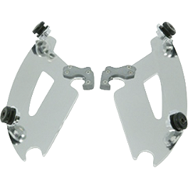 Memphis Shades Trigger-Lock Plate-Only Kit For Bullet Fairing - Arlen Ness Battistini Round Front Footpegs - Black