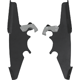 Memphis Shades Trigger-Lock Plate-Only Kit For Batwing Fairing - Black - 2008 Yamaha Roadliner 1900 S - XV19S Memphis Shades Trigger-Lock Mounting Kit For Sportshields