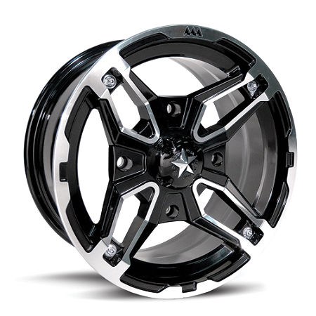 MotoSport Alloys Crusher Front Wheel - 14X7 Black - Main