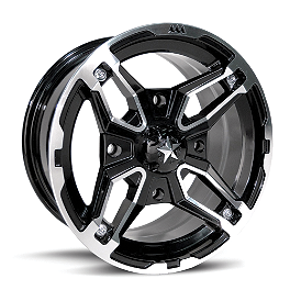 Motosport Alloys Crusher Rear Wheel - 15X7 Black - Motosport Alloys Patriot Front Wheel - 12X7 Black