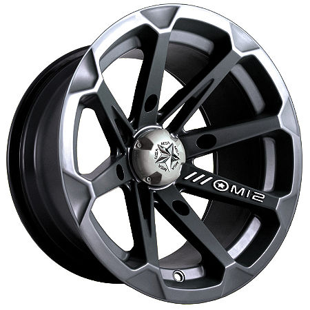 MotoSport Alloys Diesel Front Wheel - 14X7 Black - Main