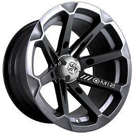 MotoSport Alloys Diesel Rear Wheel - 14X7 Black - 2011 Yamaha GRIZZLY 450 4X4 MotoSport Alloys Elixir Front Wheel - 12X7 Black