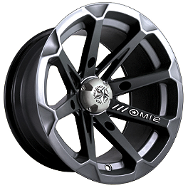 MotoSport Alloys Diesel Rear Wheel - 15X7 Black - 2011 Yamaha GRIZZLY 450 4X4 MotoSport Alloys Elixir Front Wheel - 12X7 Black
