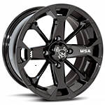 MotoSport Alloys Elixir Rear Wheel - 12X7 Black - Motosport Alloys Utility ATV Tire and Wheels