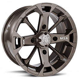 MotoSport Alloys Elixir Rear Wheel - 14X7 Bronze - Motosport Alloys Patriot Front Wheel - 12X7 Black