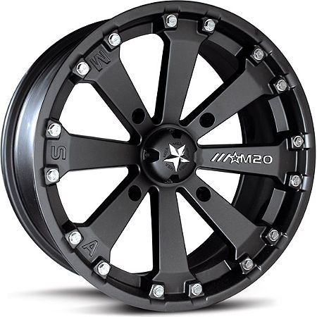 Motosport Alloys Kore Front Wheel - 14X7 Matte Black - Main