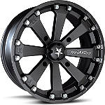 Motosport Alloys Kore Rear Wheel - 14X7 Matte Black - Motosport Alloys Utility ATV Tire and Wheels