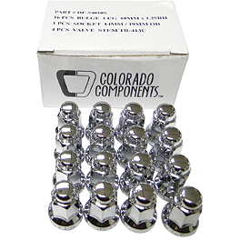 MotoSport Alloy 3/8X24 Lug Nut Kit - 2008 Polaris RANGER 500 EFI 4X4 Quadboss 1.5