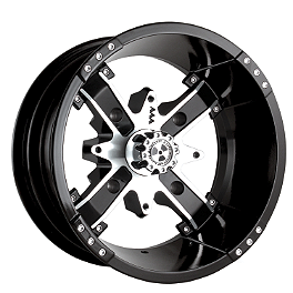 Motosport Alloys Nuke Rear Wheel - 12X7 Black - 2003 Honda TRX450 FOREMAN 4X4 Motosport Alloys Patriot Front Wheel - 14X7 Black