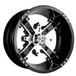 Motosport Alloys Nuke Rear Wheel - 12X7 Black - Four Clearance