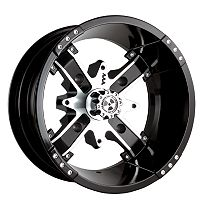 Motosport Alloys Nuke Front Wheel - 14x7 Black