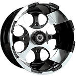 Motosport Alloys Patriot Front Wheel - 12X7 Black - Motosport Alloys Utility ATV Tire and Wheels
