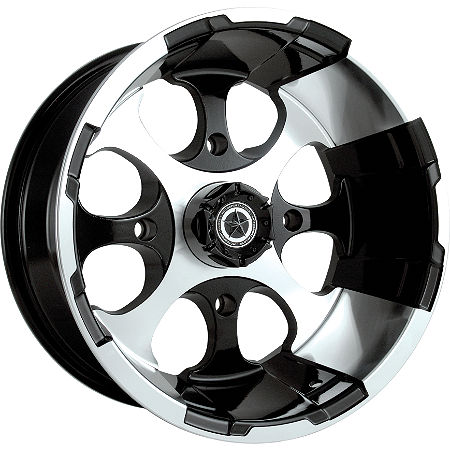 Motosport Alloys Patriot Front Wheel - 14X7 Black - Main