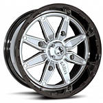 MotoSport Alloys M18 Pilot Rear Wheel - 12X7 Black/Silver - Motosport Alloys ATV Tire and Wheels