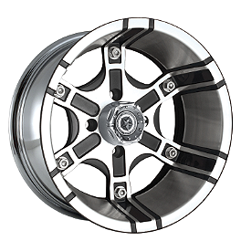 Motosport Alloys Platoon Rear Wheel - 12X7 Black - Motosport Alloys Patriot Front Wheel - 12X7 Black