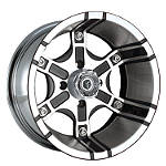 Motosport Alloys Platoon Rear Wheel - 12X7 Black - Utility ATV Tire and Wheels
