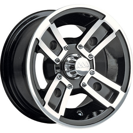 Motosport Alloys Redline Front Wheel - 10X5 Black Machined - Main