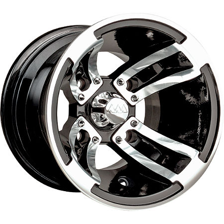 MotoSport Alloys Redline Rear Wheel - 10X8 Black Machined - Main