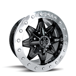MotoSport Alloys Vice Beadlock 14X7 - Front Black - Motosport Alloys Patriot Front Wheel - 12X7 Black