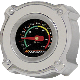 Mishimoto Temperature Gauge 1.3 Bar Rated Radiator Cap Small - 2003 Kawasaki KX100 Mishimoto X Braced Radiator