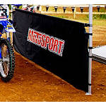 MotoSport 10' 1/2 Wall And Rail With Screen Print - MotoSport Cruiser Riding Accessories