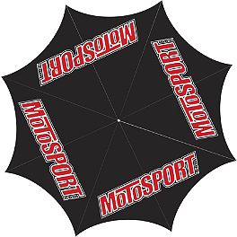 MotoSport Custom Printed Golf Umbrella - BikeMaster Air Compressor With Storage Bag