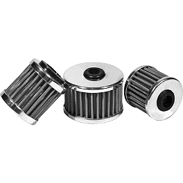 MSR Stainless Oil Filter - 1st Filter - 2001 KTM 400MXC PC Racing Flo Stainless Steel Oil Filter - Tall