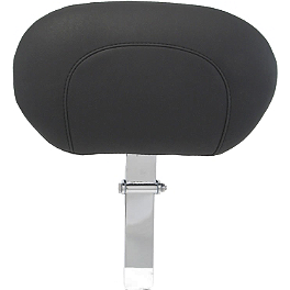 Mustang Driver Backrest - Chrome Studded - 2008 Harley Davidson Street Glide - FLHX Kuryakyn Plug-In Driver Backrest