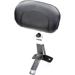 Mustang Driver Backrest Kit - Chrome Studded - 2002 Harley Davidson Road King CVO - FLHRSEI Kuryakyn Plug-In Driver Backrest