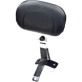 Mustang Driver Backrest Kit - Vintage - 2008 Harley Davidson Road King - FLHR Kuryakyn Plug-In Driver Backrest