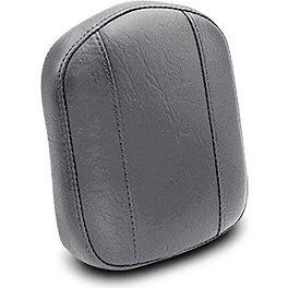 "Mustang Setback Sissy Bar Pad 7.5"" X 9"" - Mustang 1-Piece Seat with Backrest - Studded"