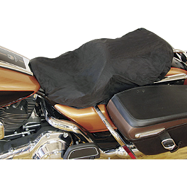 Mustang Rain Cover For Standard Seat With Backrest - Mustang Wide 2-Piece Touring Seat with Backrest - Studded