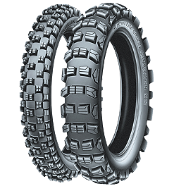 Michelin 250/450F M12 XC / S12 XC Tire Combo - 1993 Honda XR650L Michelin Bib Mousse