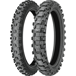 Michelin 250 / 450F Starcross Tire Combo - 2010 Husqvarna TE510 Michelin Bib Mousse