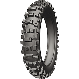 Michelin AC-10 Rear Tire - 100/100-18 - 1976 Honda CR125 Michelin M12XC Front Tire - 80/100-21