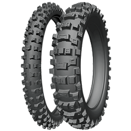 Michelin AC-10 Tire Combo - 2010 Husqvarna TE450 Michelin Bib Mousse