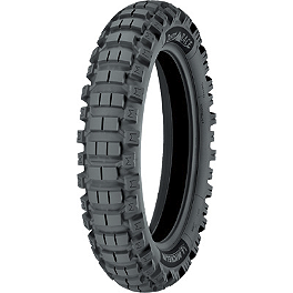 Michelin Desert Race Rear Tire - 140/80-18 - 2009 Honda XR650L Michelin AC-10 Front Tire - 80/100-21