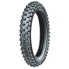 Michelin M12XC Front Tire - 80/100-21 - 1984 Honda CR500 Michelin T63 Rear Tire - 130/80-18