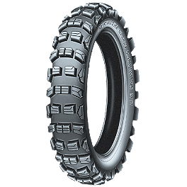 Michelin M12XC Rear Tire - 100/100-18 - 1974 Honda CR125 Michelin Bib Mousse
