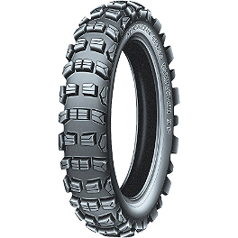 Michelin M12XC Rear Tire - 120/90-18 - 1990 Honda XR250R Michelin AC-10 Front Tire - 80/100-21
