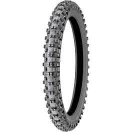 Michelin Starcross MH3 Front Tire - 80/100-21 - 2011 Husqvarna CR125 Michelin Starcross MS3 Rear Tire - 100/90-19