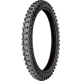 Michelin Starcross Ms3 Front Tire - 80/100-21 - 2008 Husqvarna TE450 Michelin AC-10 Rear Tire - 120/90-18