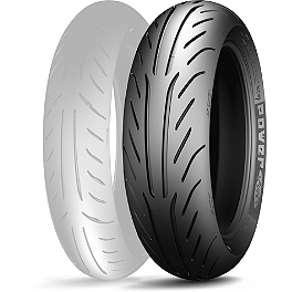 Michelin Power Pure SC Rear Tire - 130/70-12 - Michelin Pilot Activ Front Tire - 100/90-18H