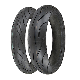 Michelin Pilot Power Tire Combo - Michelin Pilot Activ Front Tire - 100/90-19V