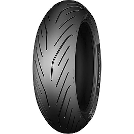 Michelin Pilot Power 3 Rear Tire - 180/55ZR17 - Michelin Pilot Activ Front Tire - 100/90-19