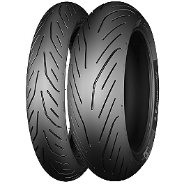 Michelin Pilot Power 3 Tire Combo - Michelin Pilot Road 2 Rear Tire - 180/55ZR17 B
