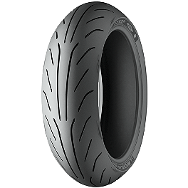 Michelin Power Pure Rear Tire - 180/55ZR17 - Michelin Pilot Activ Front Tire - 3.25-19H