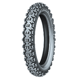 Michelin S12 XC Front Tire - 80/100-21 - 2008 Husqvarna TE450 Michelin AC-10 Rear Tire - 120/90-18