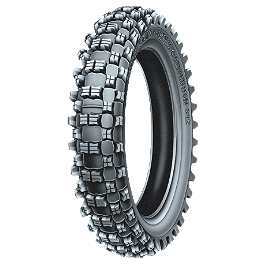 Michelin S12 XC Rear Tire - 100/100-18 - 1975 Yamaha YZ125 Michelin M12XC Front Tire - 80/100-21